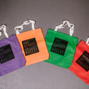 ARC School of Ballet Cotton Tote Bags - multiple colors